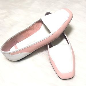 Shoes - Enzo ANGIOLINI pink and white flats loafers sz 7
